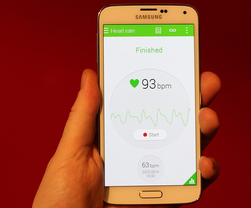 Samsung Galaxy S5 Heart Rate Sensor