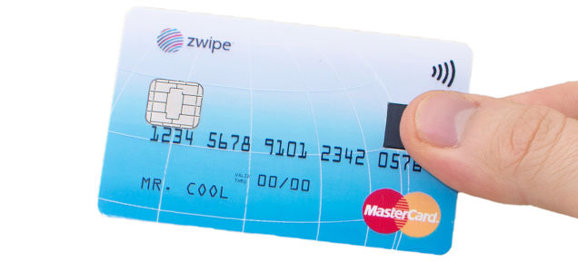 Master Card Zwipe with Finger Print