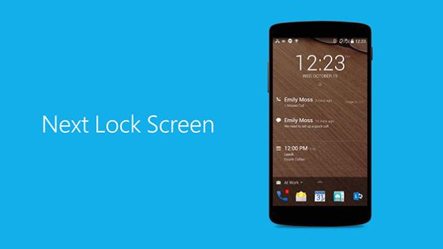 Next lock screen