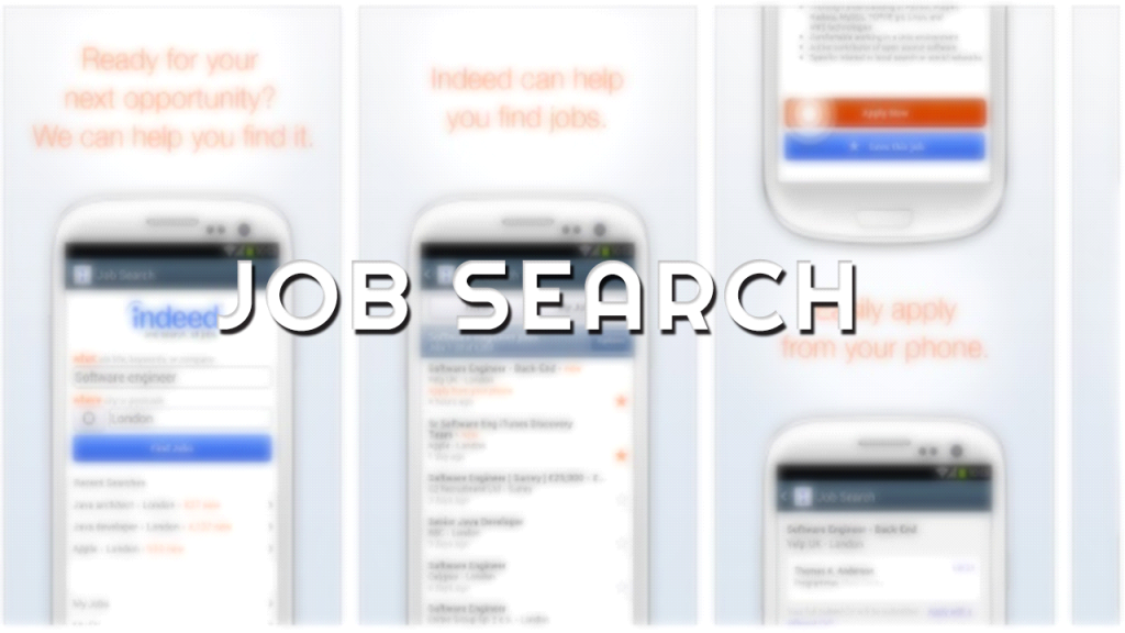 Job search mobile phone app